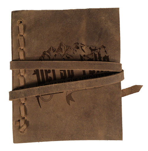 """Verso L'alto"" Rustic Leather Journal"