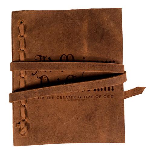 """AMDG"" Rustic Leather Journal"