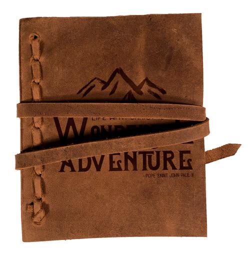 """Wonderful Adventure"" Rustic Leather Journal"
