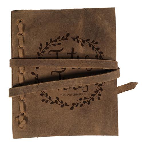 """Totus Tuus"" Rustic Leather Journal"