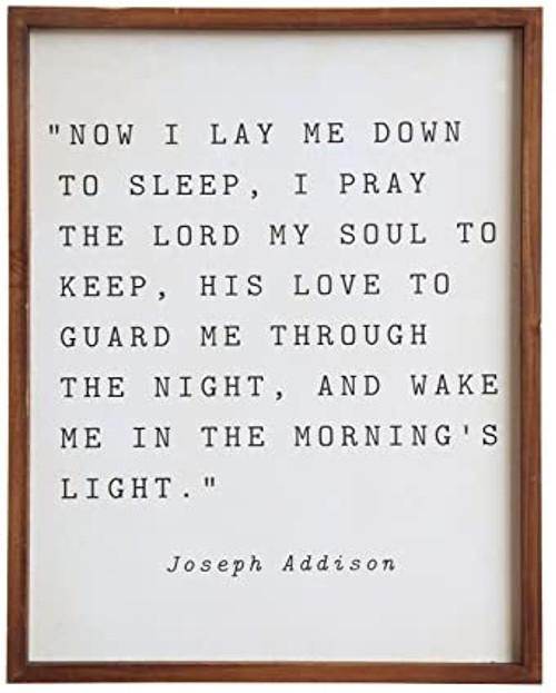 """Now I Lay Me Down To Sleep"" Framed Wall Decor"