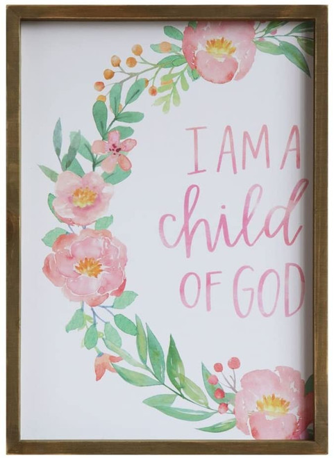 """I Am A Child of God"" Framed Wall Decor"