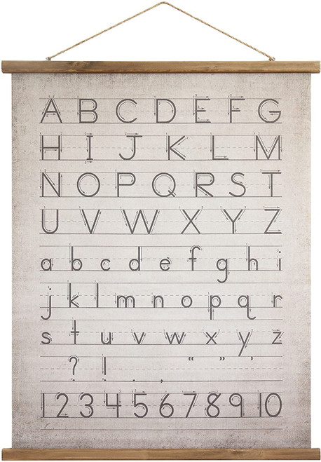 Alphabet Wall Decor Scroll