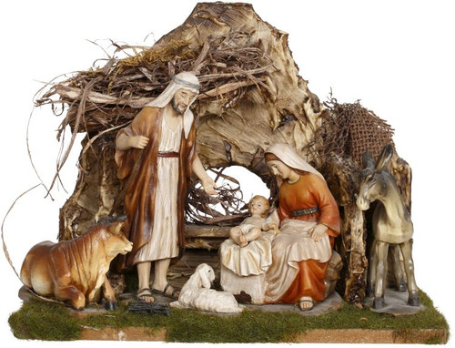 Holy Family In Stable Nativity