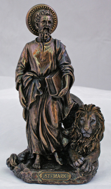 St. Mark with Lion Bronze Statue