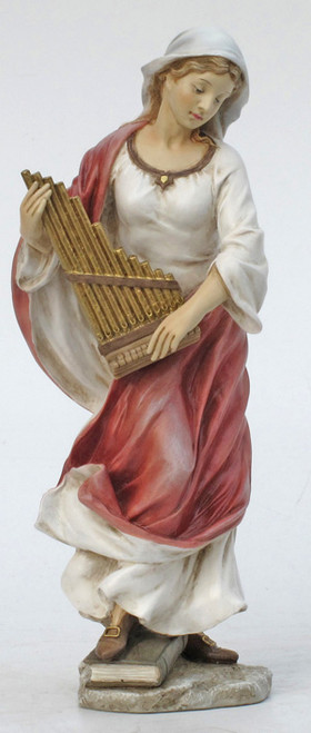 St. Cecilia Painted Statue