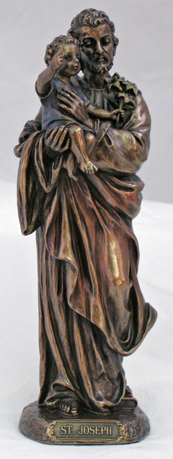 St. Joseph with Child Bronze Statue