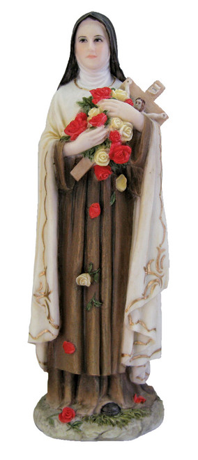 St. Therese of Lisieux Painted Statue