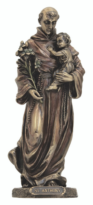 St. Anthony and Child Jesus Bronze Statue