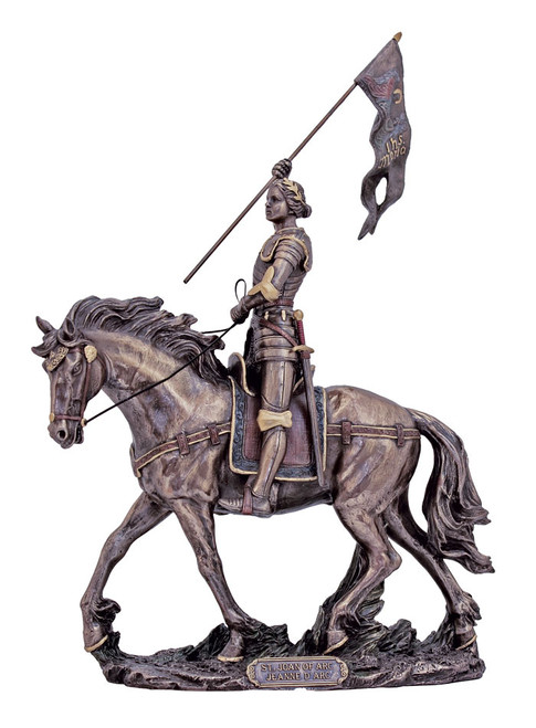 St. Joan of Arc on Horse Bronze Statue