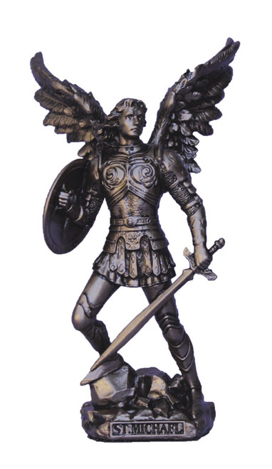 St. Michael Without Devil Bronze Statue 4""