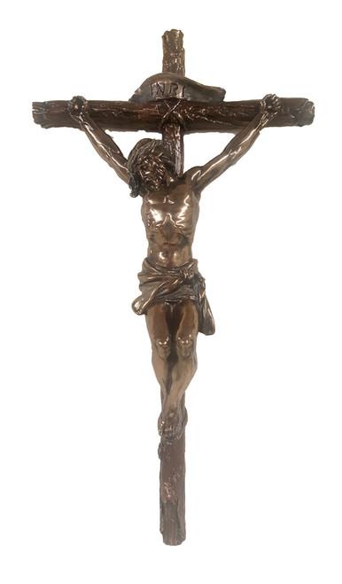 """Bronze Crucifix - 16"""""""