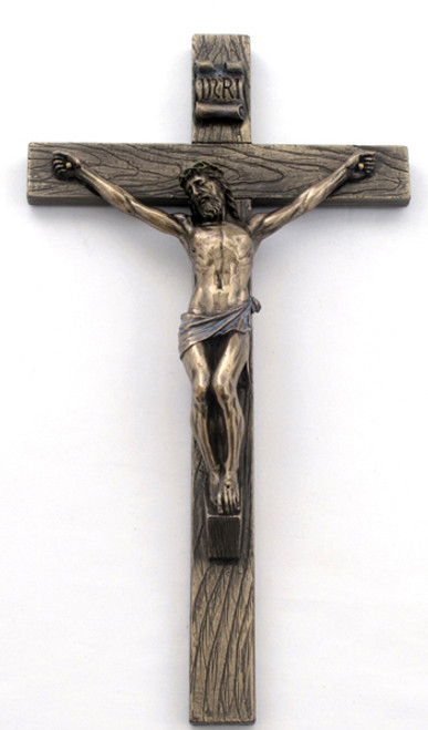 """Bronze Crucifix - 10"""""""