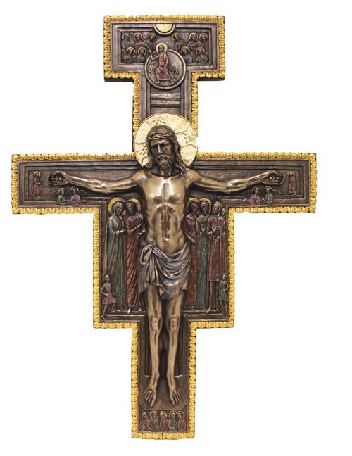 Bronze San Damiano Crucifix
