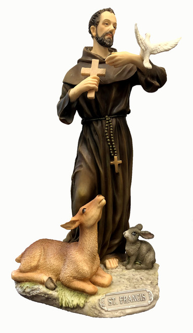 St. Francis Painted Statue - 8.5""