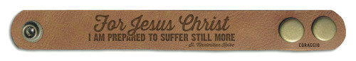 """For Jesus Christ"" Rustic Leather Bracelet"
