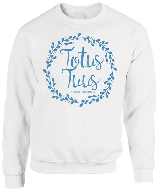 Totus Tuus White Crewneck Sweatshirt