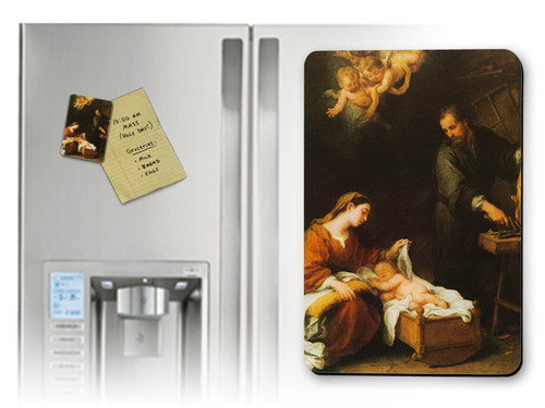 Holy Family by Murillo Magnet