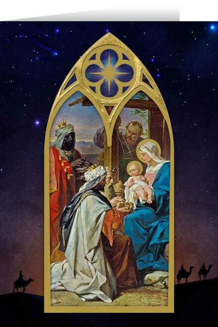 Gift of the Three Kings by Jurij Subic Christmas Cards  (25 Cards)