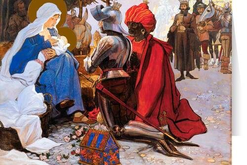 The Three Kings by Maximilian Liebenwein Christmas Cards  (25 Cards)