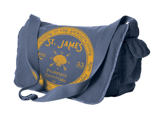 St. James Pilgrimage Outfitters Blue Messenger Bag