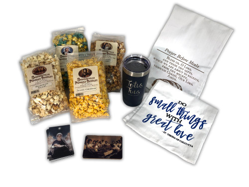 Feed the Family Catholic Popcorn Gift Box