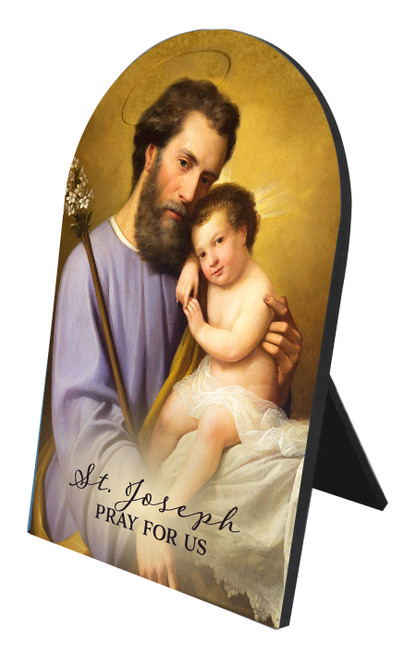Commemorative St. Joseph Arched Desk Plaque