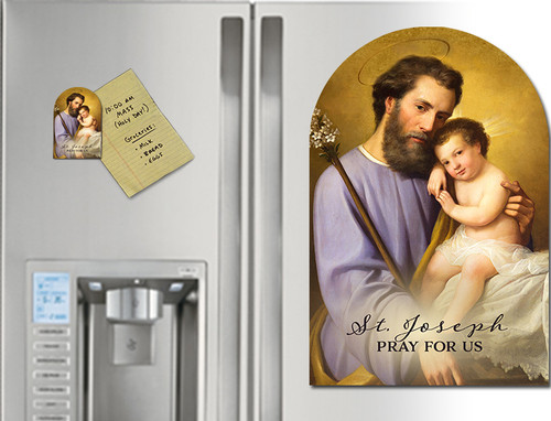 Commemorative St. Joseph Arched Magnet