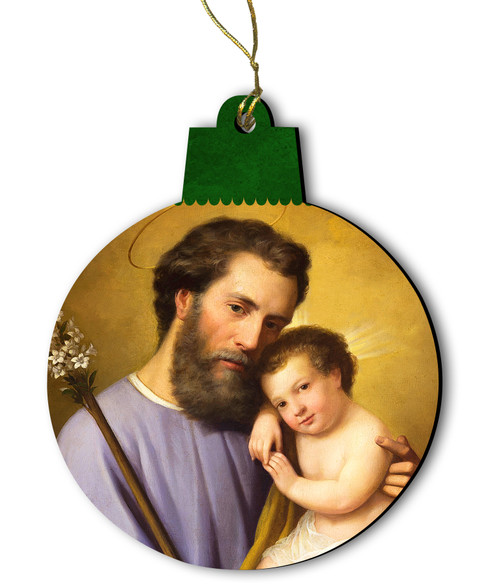 Commemorative St. Joseph Wood Ornament