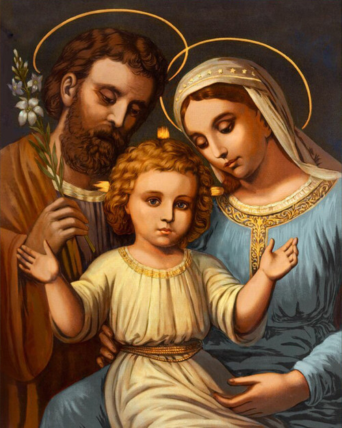 LIMITED EDITION Italian Holy Family in Assorted Frames