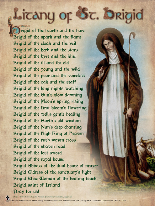 Litany of St. Brigid Poster