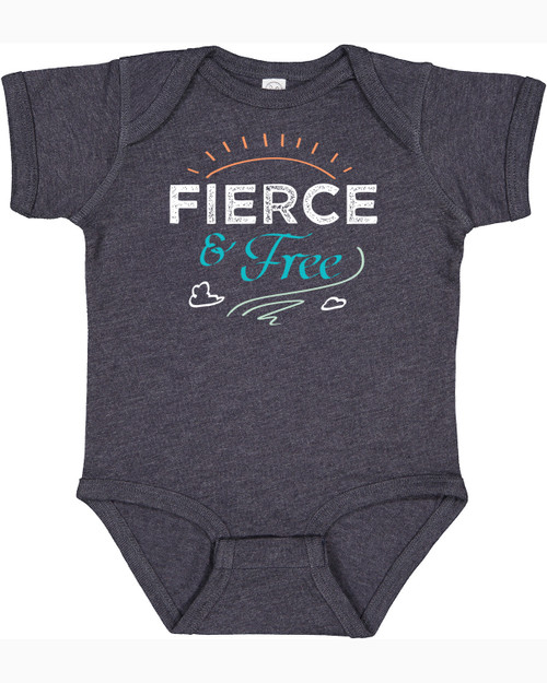 """Fierce and Free"" G.K. Chesterton Quote Baby Onesie"
