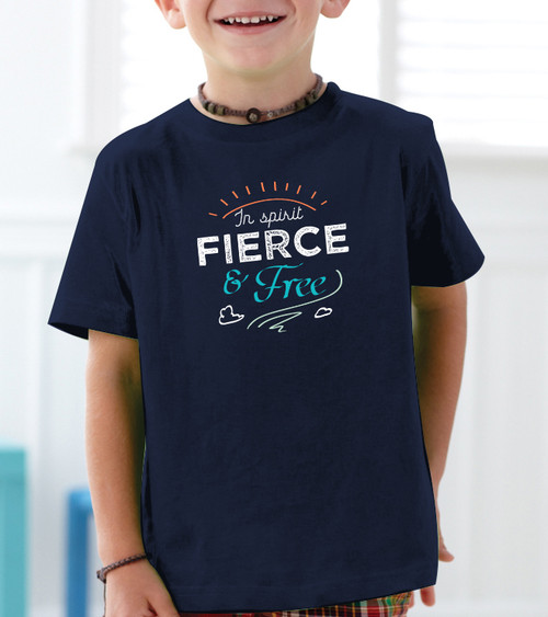 """Fierce and Free"" G.K. Chesterton Quote Toddler Tee"