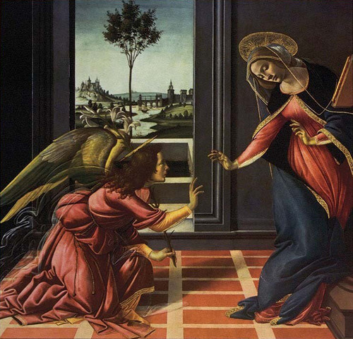 LIMITED EDITION Annunciation by Botticello in Assorted Frames