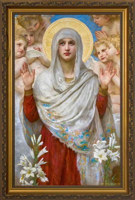 Ora Pro Nobis by Bouguereau Gold Framed Art
