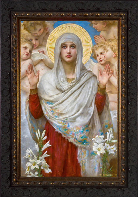 Ora Pro Nobis by Bouguereau - Dark Ornate Framed Art