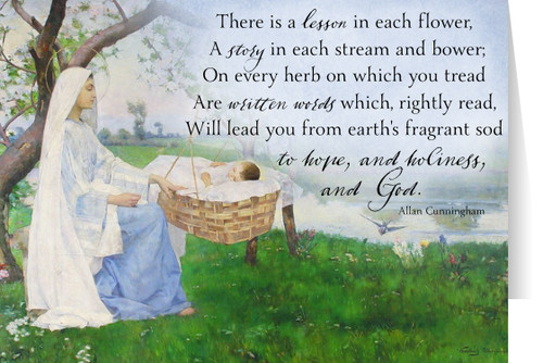 """A Lesson in Each Flower"" Allan Cunningham Quote Card"
