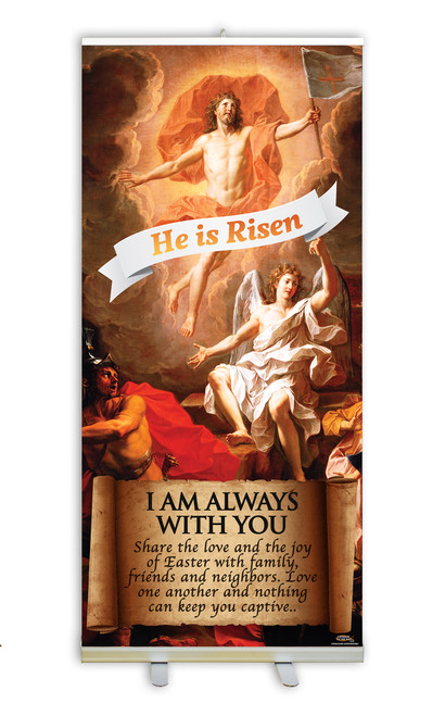 Resurrection of Christ E.C. Banner Stand