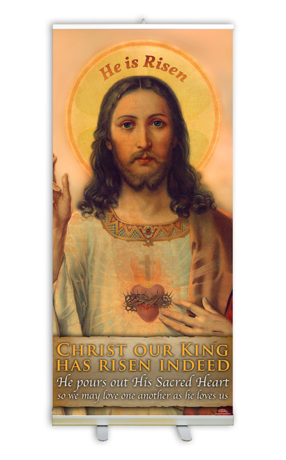 Antique Sacred Heart E.C. Banner Stand