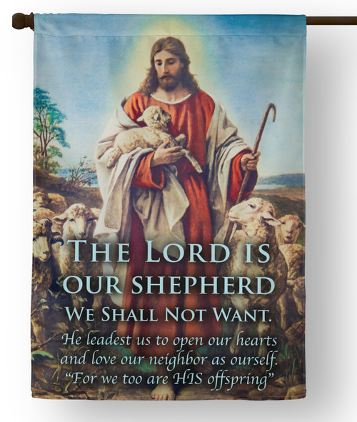 The Lord is Our Shepherd E.C. Outdoor House Flag