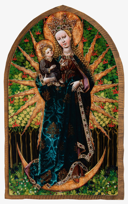 Matka Boska Zielna (Our Lady of the Herbs) Cloister Collection Catholic Icon Plaque