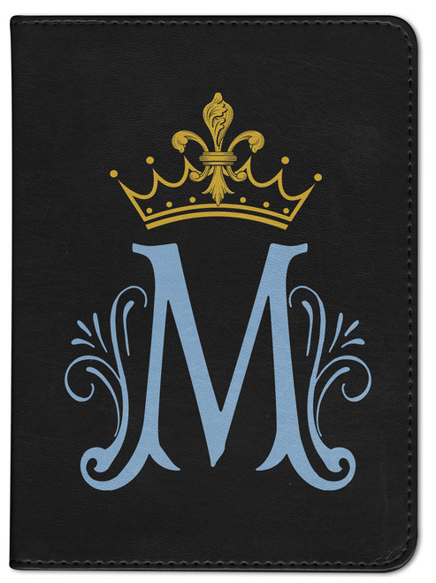 Personalized Catholic Bible with Marian Symbol - Black RSVCE