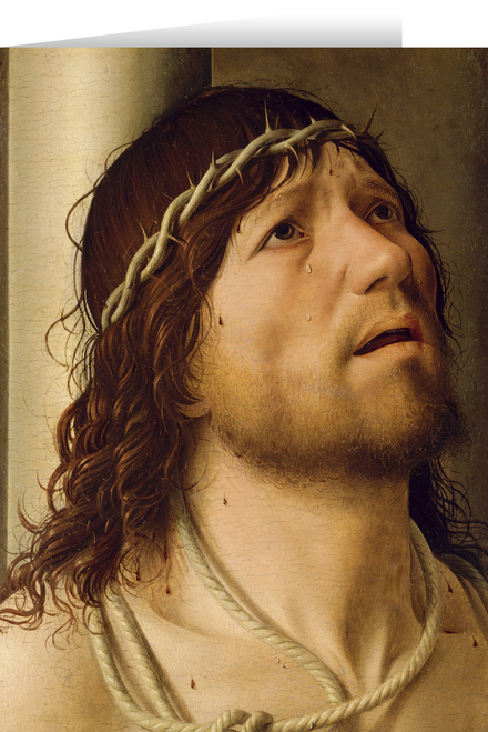 Christ at the Column by Antonello da Messina Card