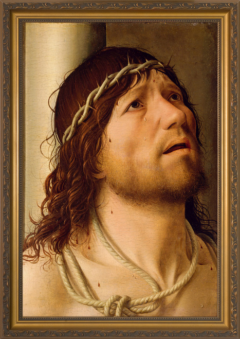 Christ at the Column be Antonello da Messina - Gold Framed Art
