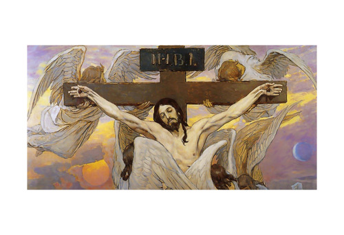 Christ Crucified by Viktor Vasnetsov Print