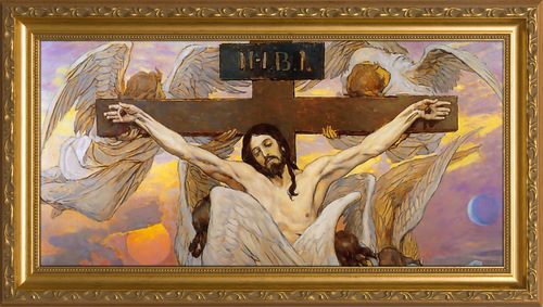 Christ Crucified by Viktor Vasnetsov Framed Art