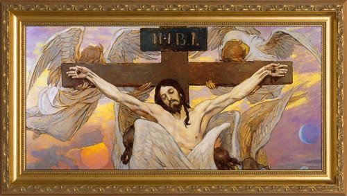 Christ Crucified by Viktor Vasnetsov Framed Art