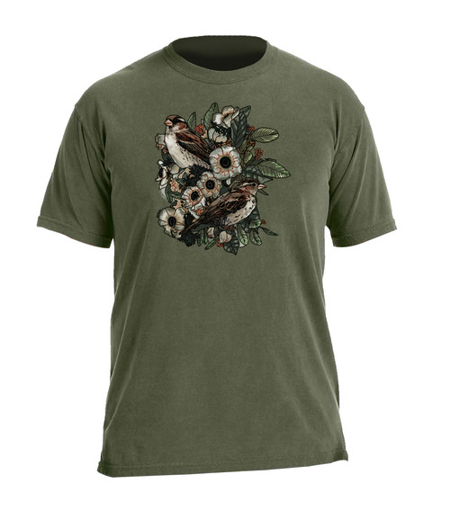 CORAGGIO Lilies and Sparrows T-Shirt