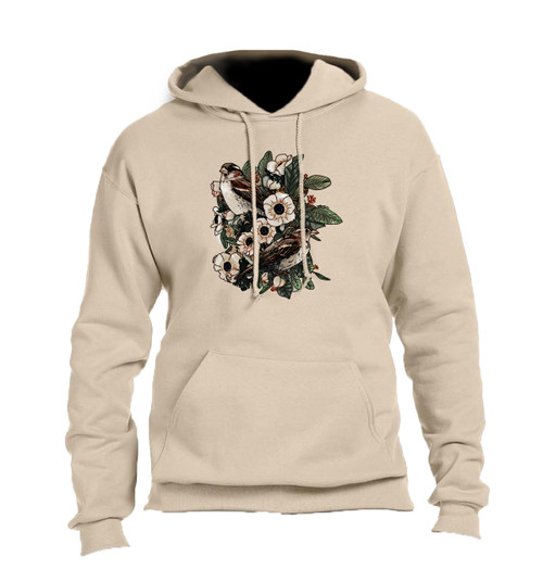 CORAGGIO Lilies and Sparrows Hoodie