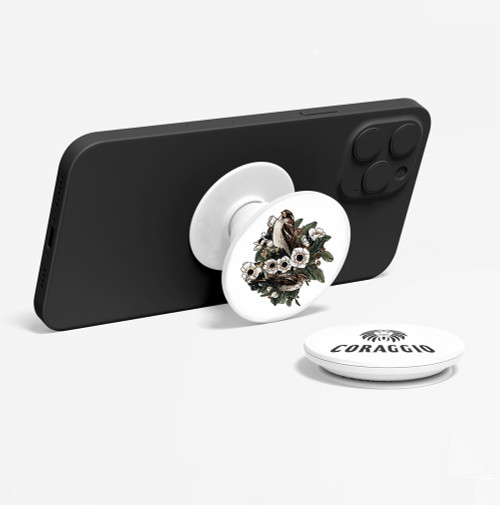 CORAGGIO Lilies and Sparrows Pop-Up Phone Holder